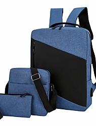 cheap -Men's Nylon School Bag Commuter Backpack Functional Backpack Large Capacity Waterproof Zipper Outdoor Office & Career Black Blue Red
