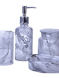 cheap -Bathroom Accessories Set, 4 Piece Crystal Glass Complete Bathroom Set for Bath Decor, Includes Toothbrush Holder, Soap Dispenser, Soap Dish, 1 Tumbler  Holiday Bathroom Decoration Gift Idea