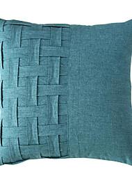 cheap -2pcs Cushion Cover Minimalist Plain Color Plaid Stitching Cotton And Linen Pillowcase Solid Color Fabric Sofa Cushion Cover
