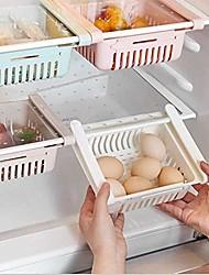 cheap -fridge drawer organizer, 3 pack retractable drawer refrigerator storage box, unique design pull out bins, fridge shelf holder storage box, small size, fit for fridge shelf under 0.5 inch …
