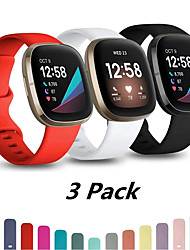 cheap -Watch Band for Fitbit Versa 3 / FitbitSense Fitbit Sport Band Silicone Wrist Strap