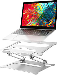 cheap -Adjustable Aluminum Laptop Stand Ergonomic Multi-Angle Desk Laptop Holder w/Heat-Vent for Notebook MacBook Dell HP More 10-17.3 inch