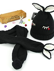 cheap -1pcs Kids / Toddler Unisex Active Black Cartoon Knitted Acrylic Hats & Caps Black One-Size
