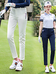 cheap -Women's Golf Pants / Trousers Breathable Fast Dry Soft Sports Outdoor Autumn / Fall Winter Spring Stripes White Light Blue / Stretchy
