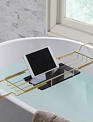 cheap -Adjustable Bath Caddies Bathtub Rack for Bathroom Storage Stainless Steel Telescopic Non-slip Bathroom Multifunctional Bathtub Shelf Bathroom Spa Bathing Shelf, Gold Silver- 1pc