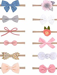 cheap -baby girls nylon headband newborn infant toddler elastic hairband hair bow accessories pack of 12