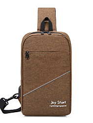 cheap -Men's Bags Oxford Cloth Polyester Sling Shoulder Bag Chest Bag Pattern / Print Zipper Daily Outdoor 2021 MessengerBag Black Blue Purple Red