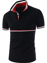 cheap -men's fashion assorted color short sleeve polo t shirt blue white x-small