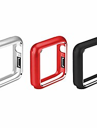 cheap -3pks navor ultra thin metal frame magnet adsorption cover case compatible with apple watch 40mm- series 4 / series 5- silver/red/black