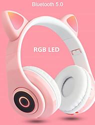 cheap -M08 Cat Ear Over-ear Headphones Bluetooth 5.0 Wireless Headphones Hifi Music Bass Stereo Headphones LED Light Mobile Phone Girl Daughter PC Headphones