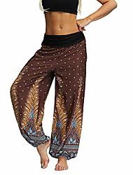 cheap -women's harem yoga pants bohemian thai indian printed comfty dance boho hippie pants style4 small