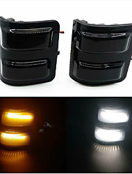 cheap -2Pcs 2W LED Switchback White/Amber Side Mirror Lights For 2013-2014 F150 2008-2016 Ford F-250 F-350 F-450 F-550 Super Duty truck