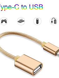 cheap -USB C to USB Adapter OTG Cable USB Type C Male to USB 3.0 2.0 Female Cable Adapter for MacBookPro2020 Samsung Huawei Type-C Adapter