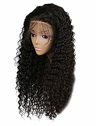 cheap -clearance long wavy lace front wig, inkach afro curly full hair wigs heat resistant synthetic fiber for african black womens party wig (black-a)