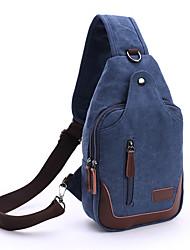 cheap -Men's Bags Polyester Canvas Sling Shoulder Bag Chest Bag Zipper Daily Outdoor 2021 MessengerBag Black Army Green Khaki Dark Blue