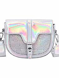 cheap -segreto women shiny hologram holographic crossbody bag shoulder bag handbag shopping bag purse evening bag