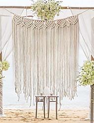 "cheap -macrame wall hanging, large woven wall hangings, boho cotton handmade macrame backdrop wall decor for wedding living room bedroom gallery, 39""x 33"""