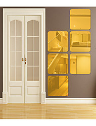 cheap -Rounded Square Shapes Wall Stickers Mirror Wall Stickers Decorative Wall Stickers, Acrylic Home Decoration Wall Decal Wall Decoration 1pc