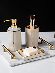 cheap -Bathroom Accessories Set 3 Piece Ceramic Complete Bathroom Set for Bath Decor, Includes Toothbrush Holder, Soap Dispenser, Soap Dish,  Holiday Bathroom Decoration Gift Idea