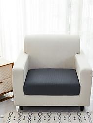 cheap -Stretch Cushion Cover Pure Color Sofa Cushion Furniture Protector Sofa Seat Cover Slipcover Sofa Cover Jacquard Weave Soft Flexibility with Elastic Bottom