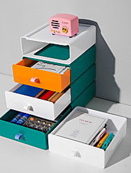 cheap -Plastic Desktop Storage Box Drawer Type Cosmetics and Jewelry Box 1Pc