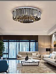 cheap -80 cm Black Crystal Chandelier Luxury Ceiling Light Flush Mount Lights Stainless Steel Modern Fashion Electroplated 110-120V 220-240V