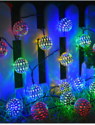 cheap -Solar String Lights Moroccan Ball Multicolor Warm White White 50LED 30 LED 20LED Globe Fairy String Lights Solar Powered Lantern for Outdoor Garden Yard Patio Christmas Tree Party