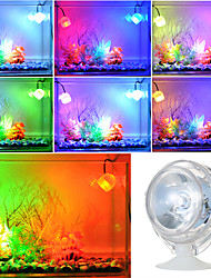 cheap -Aquarium Light Aquarium Decoration LED Spotlight LED Aquarium Lights 1pc Fish Tank Light Red Blue Yellow 360 Rotating Plastic & Metal USB 1 W 5 V