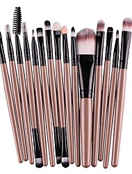 cheap -makeup brushes set,  15pcs cosmetic brushes small makeup brushes for foundation concealer lip eyebrow eyeline eye shadow cosmetics blending brush tool gifts for women (gold)