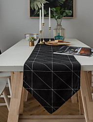 cheap -Table Runner American Country Fashion Geometric Printing Table Runner