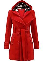 cheap -Women's Solid Colored Active Fall & Winter Coat Long Daily Long Sleeve Fleece Coat Tops Black
