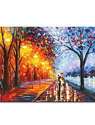 cheap -Mintura Large Size Hand Painted Knife Landcape Oil Painting on Canvas Modern Abstract Wall Art Picture For Home Decoration No Framed