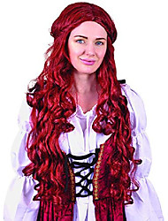 cheap -medieval lady wig long auburn