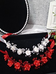 cheap -Headpieces Wedding Basketwork / Beads / Alloy Tiaras / Headbands / Headpiece with Rhinestone / Floral / Trim 1 Piece Wedding / Party / Evening Headpiece