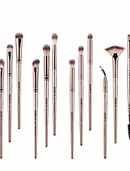 cheap -12 pieces makeup brush set professional face eye shadow eyeliner foundation blush lip makeup brushes powder liquid cream cosmetics blending brush tool with leather clutch bag (b)