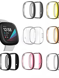 cheap -Cases For Fitbit Fitbit Versa 3 / FitbitSense Plastic Screen Protector Smart Watch Case Compatibility
