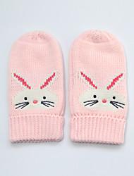 cheap -2pcs Infant Girls' Basic Animal Full Finger Cotton Gloves Blushing Pink M / L