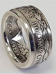 cheap -rare morgan dollar usa antique vintage coin american eagle 1921 biker silver plated jewellery mens ring (12)