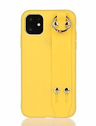 cheap -hand strap case compatible with iphone 11 pro max, soft gel rubber with adjustable wrist strap handy belt loop kickstand viewing stand feature for apple iphone 11 pro max 6.5'' 2019 (yellow)