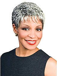 cheap -naomi wig color fs4/27 - foxy silver wigs short cropped pixie synthetic wispy layers tapered neck african american lightweight average cap bundle maxwigs hairloss booklet
