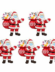 cheap -christmas ornaments 2020, santa wearing a face mask and carrying a gift bag, christmas tree decorations hanging pendant decor xmas creative gift 1pc