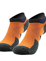 cheap -boys' crazy sports no show running socks from bamboo fiber orange 2-pack size m