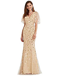 cheap -embroidery evening dress for women formal elegant wedding party dress gold us20