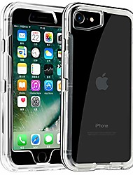 cheap -case for 2020 iphone se/iphone 7 case clear iphone 8 cover no screen heavy duty hybrid dual layer hard shockproof shell tpu bumper protective case designed crystal black
