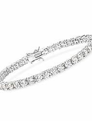cheap -10.00-11.50 ct. t.w. cz tennis bracelet in sterling silver