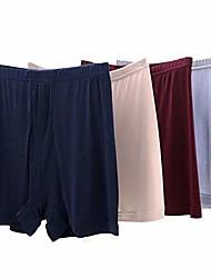 cheap -mens 100% silk knitted box panties briefs underwear (navy/beige/red/grey, us m/asiasize xl)