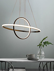 cheap -60 cm Circle Design Pendant Light Metal Modern Style Painted Finishes LED Modern 110-120V 220-240V
