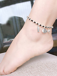 cheap -Anklet Simple Fashion Vintage Women's Body Jewelry For Party Evening Masquerade Braided Composite Alloy Fish Wedding Silver 1 PC