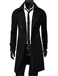 cheap -men's wool winter slim warm coat double breasted overcoat