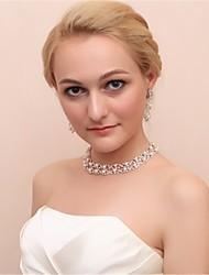 cheap -Women's Drop Earrings Choker Necklace Imitation Pearl Earrings Jewelry White For Wedding 1 set